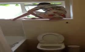 Pooping In Hotel Restroom