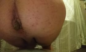 Morning poop from sexy cross dresser