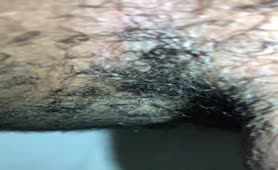 Explosive dump from hairy ass