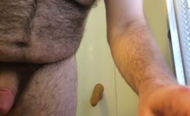 Masturbating with poop