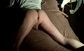 Bare arse shitting on the bed