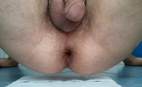 Long turd on a white napkin