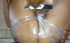 Yellow poop in plastic panties