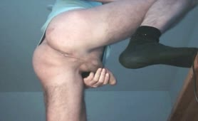 Constipated mature man