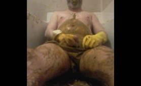 Panty poop hard led to rough masturbation