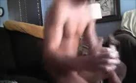 Eating poop while masturbating hard