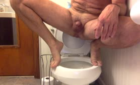 Constipated guy trying to poop