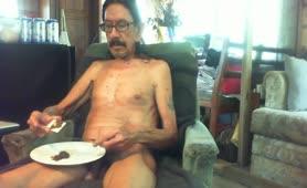 Mexican guy eating poop