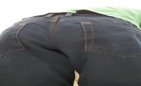 Shitting in white panties