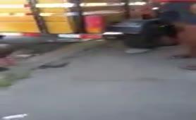 Drunk guy shitting in public