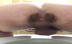 Just some poop in toilet