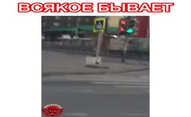 Drunk Russian shitting in public