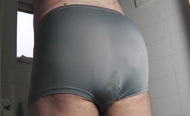 Soft load in grey undies