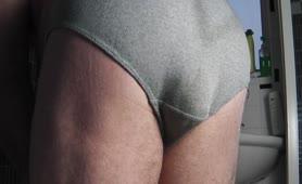 Huge turd in his undies